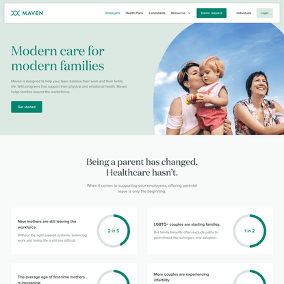 Maven for Employers – Pregnancy, Postpartum, and Back-To-Work Programs   Maven. The Digital Clinic for Women.