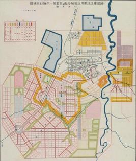 Japanese plan for Hsinking (Changchun), Northeastern China, 1934