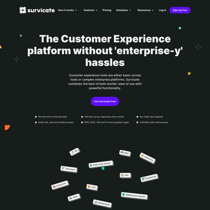 Customer Experience & Survey Software 🚀 Survicate [Use Free]