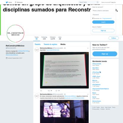 ReConstruirMéxico (@ReconstruirMX)   Twitter