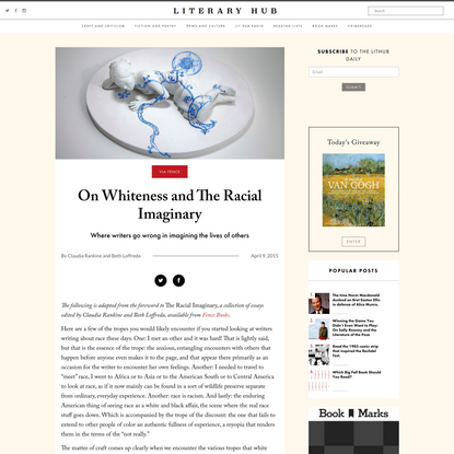 On Whiteness and The Racial Imaginary