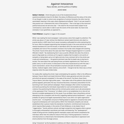Against Innocence | LIES Journal