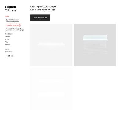 Leuchtpunktordnungen Luminant Point Arrays — Stephan Tillmans