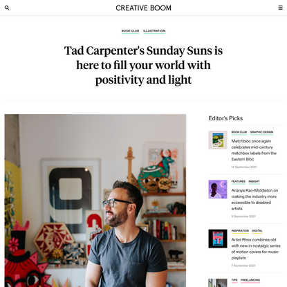 Tad Carpenter's Sunday Suns is here to fill your world with positivity and light   Creative Boom