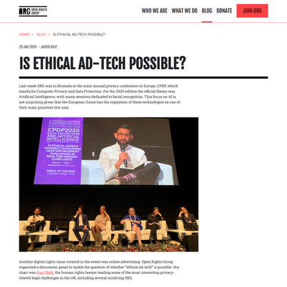 Is ethical Ad-Tech possible?