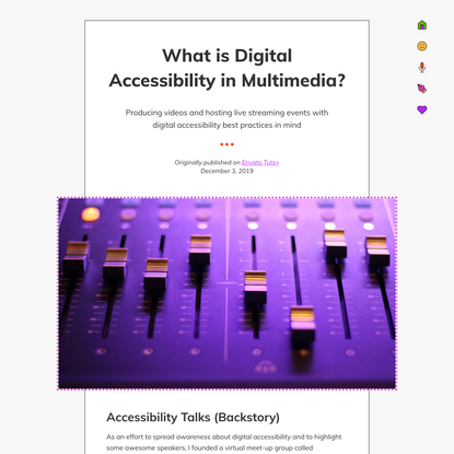 What is Digital Accessibility in Multimedia?