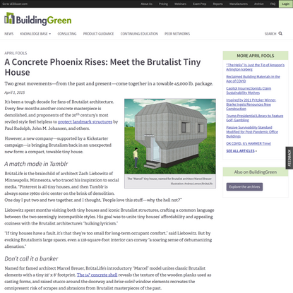 A Concrete Phoenix Rises: Meet the Brutalist Tiny House