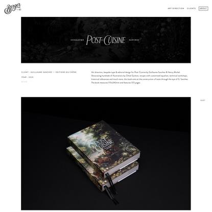 POST-CUISINE book by Guillaume Sanchez — Bureau Berger — Creative Studio I Art Direction & Branding I Founded by Benoit Berger