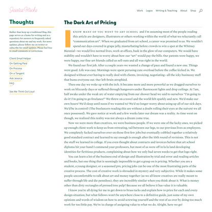 Jessica Hische - The Dark Art of Pricing