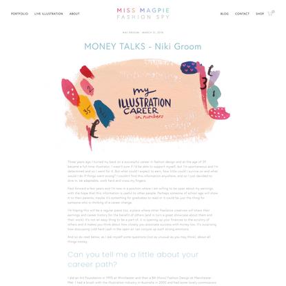 MONEY TALKS - Niki Groom | Miss Magpie Fashion Spy