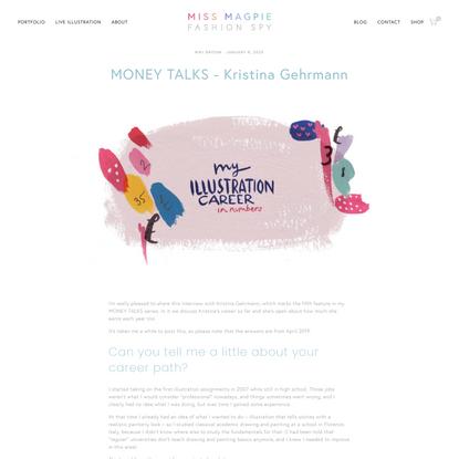 MONEY TALKS - Kristina Gehrmann | Miss Magpie Fashion Spy