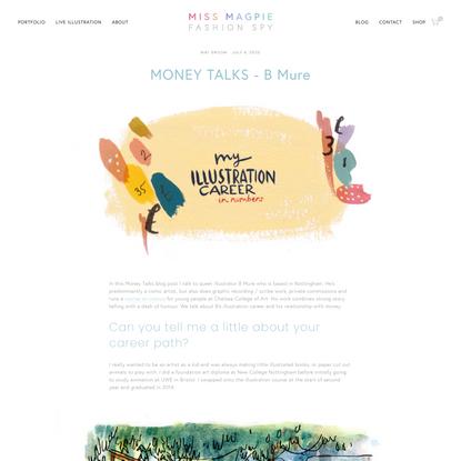 MONEY TALKS - B Mure | Miss Magpie Fashion Spy