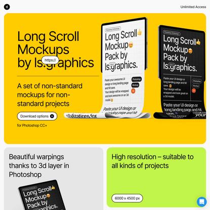 Long Scroll Mockups [PSD]