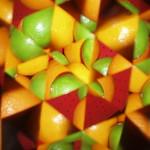 Kaleidoscope 5 - Fruit bowl, oranges, limes