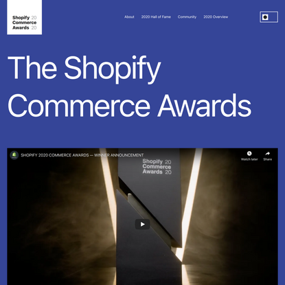 Shopify Commerce Awards