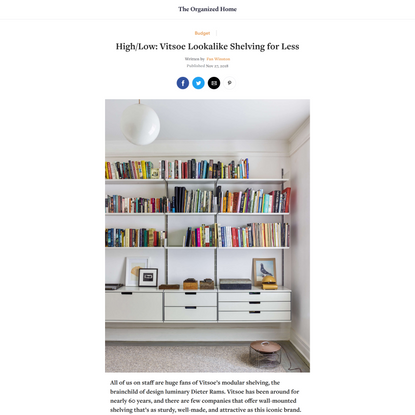 High/Low: Vitsoe Lookalike Shelving for Less - The Organized HomeHigh/Low: Vitsoe Lookalike Shelving for Less