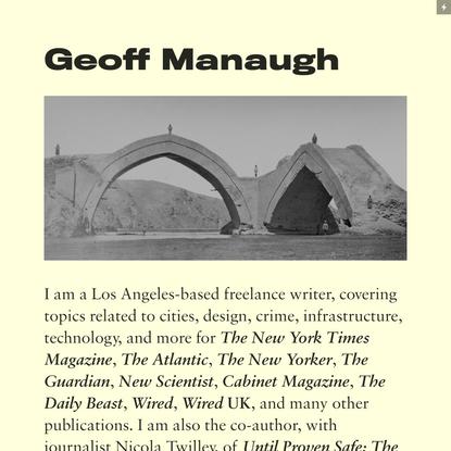 Geoff Manaugh
