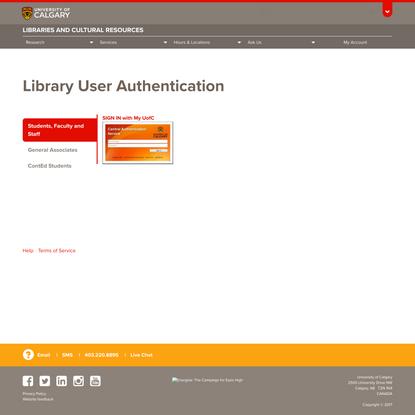 Authorization   University of Calgary