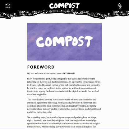 COMPOST Issue 02: Foreword by