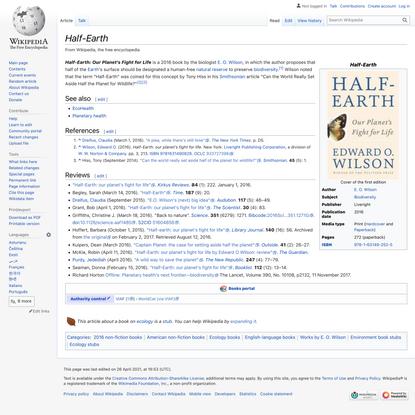 Half-Earth - Wikipedia