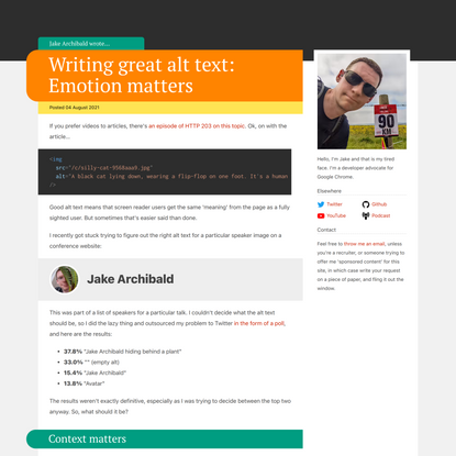 Writing great alt text: Emotion matters