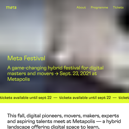 Meta Festival