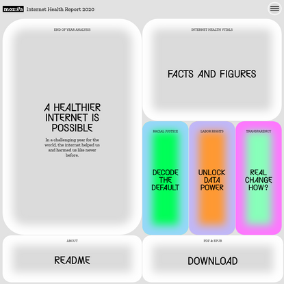 The Internet Health Report 2020 - A healthier internet is possible