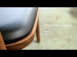 HIROSHIMA armchair in walnut with urethane clear (C-0)