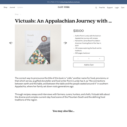 Victuals: An Appalachian Journey with Recipes