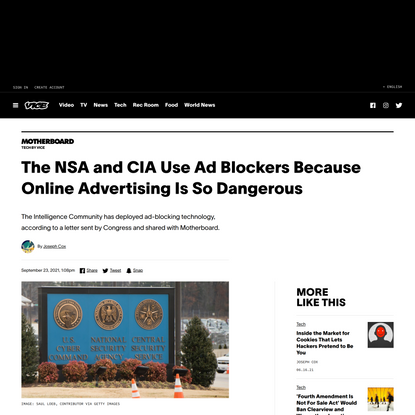 The NSA and CIA Use Ad Blockers Because Online Advertising Is So Dangerous