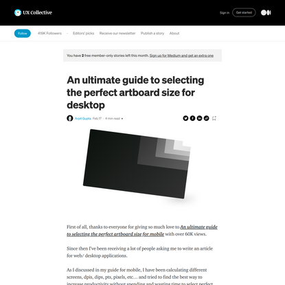 An ultimate guide to selecting the perfect artboard size for desktop