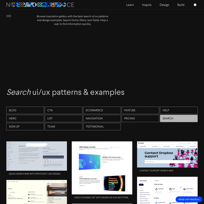 Best Search Examples & UI/UX Patterns | Nice!