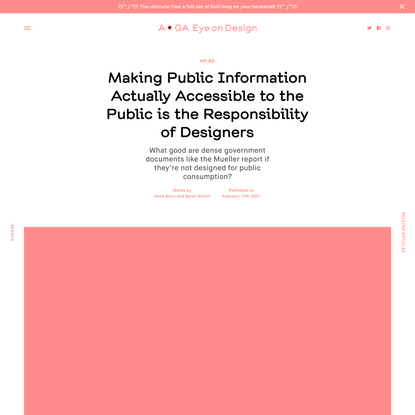 Making Public Information Actually Accessible to the Public is the Responsibility of Designers