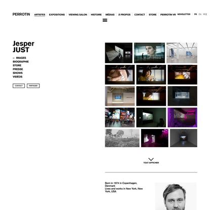 Jesper JUST - Artiste - Perrotin