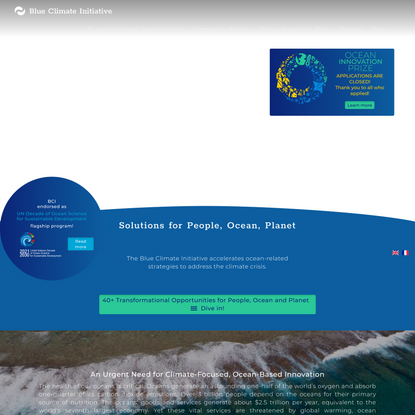 Blue Climate Initiative   Solutions for Ocean, People, Planet