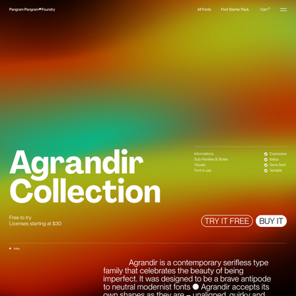 Agrandir - Free to Try Font with 74 Styles – Pangram Pangram Foundry