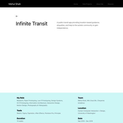 Infinite Transit | Mehul Shah