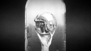 Hand with Reflecting Sphere 3D