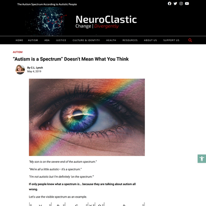 """""""Autism is a Spectrum"""" Doesn't Mean What You Think"""