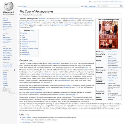 The Color of Pomegranates - Wikipedia