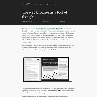 The web browser as a tool of thought   thesephist.com