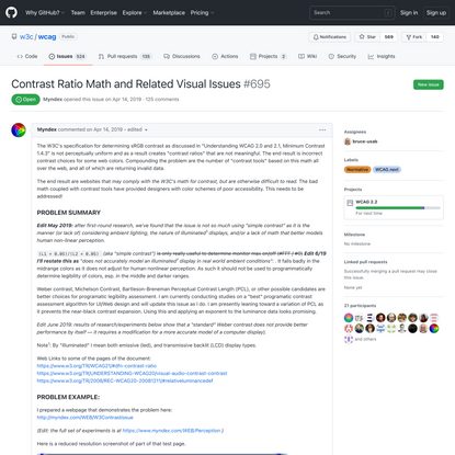 Contrast Ratio Math and Related Visual Issues · Issue #695 · w3c/wcag