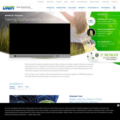 REPREVE® Polyester | Unifi