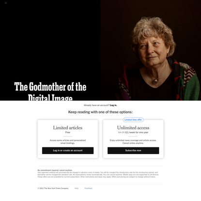 The Godmother of the Digital Image - The New York Times