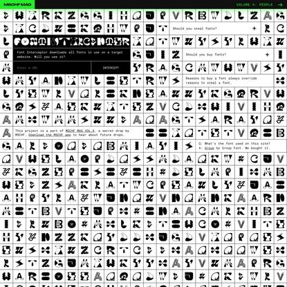 Font Interceptor