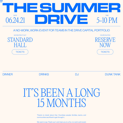 Drive Capital | The Summer Drive