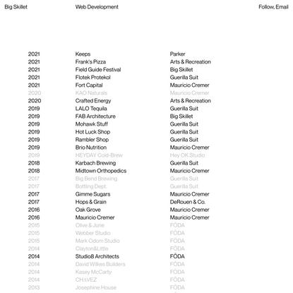 Big Skillet – Web Development