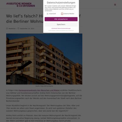 Wo lief's falsch? Historischer Blick auf die Berliner Wohnungspolitik - Deutsche Wohnen enteignen!