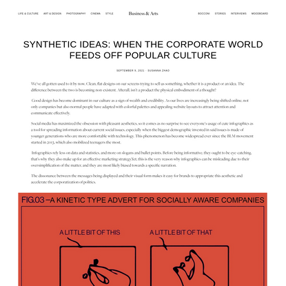 SYNTHETIC IDEAS: WHEN THE CORPORATE WORLD FEEDS OFF POPULAR CULTURE - Business & Arts