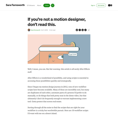 If you're not a motion designer, don't read this.